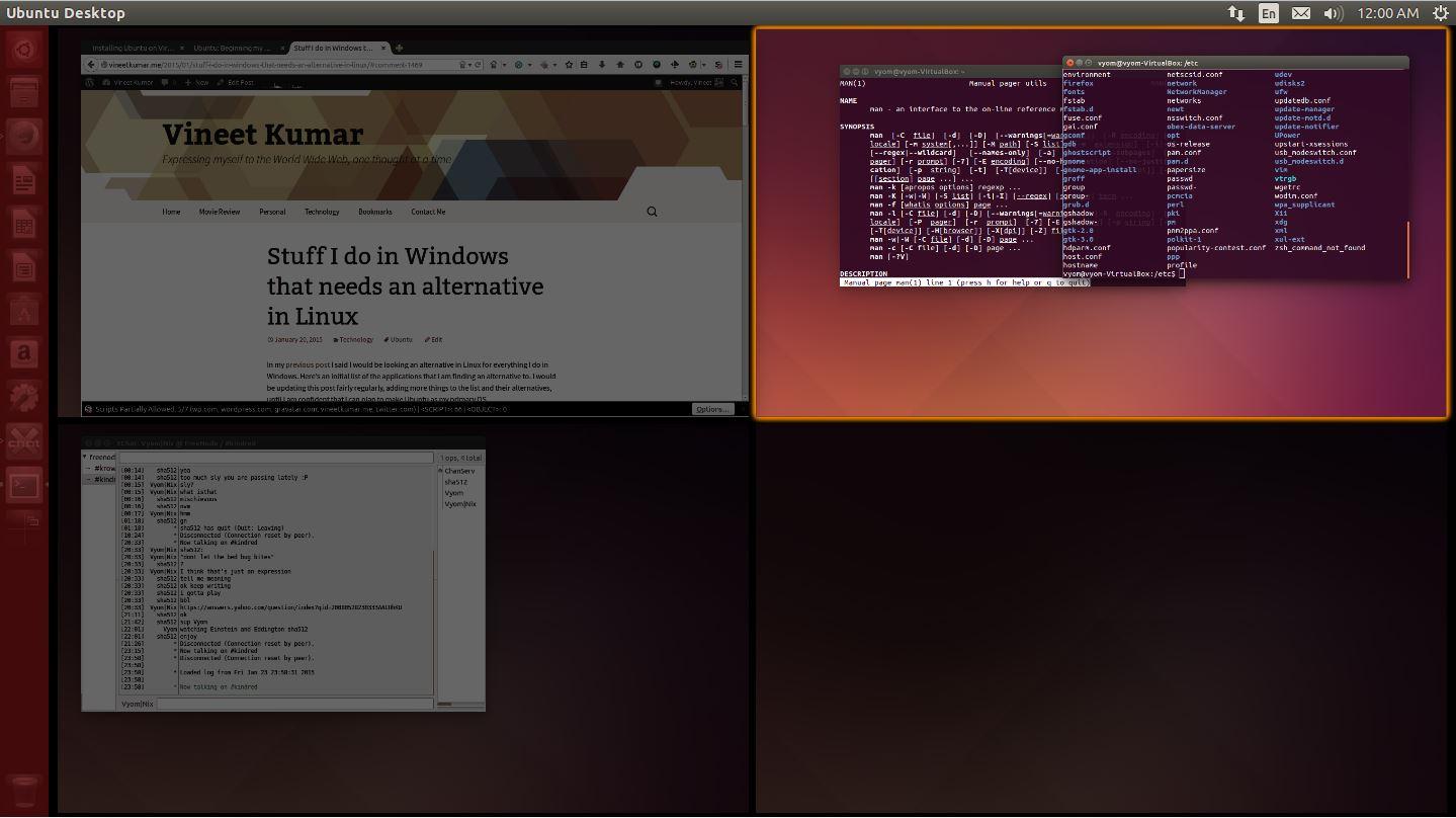 Workspaces in Ubuntu