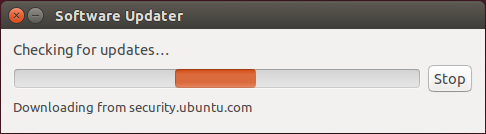 Software Updater Checking for Updates