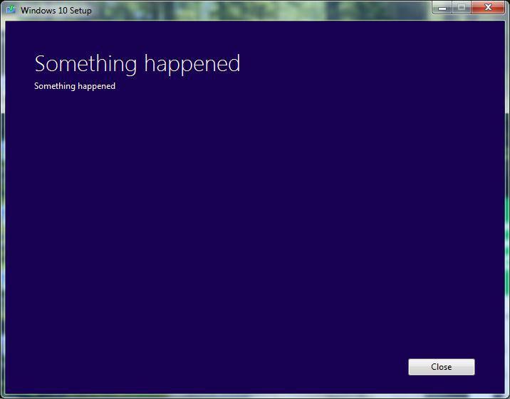 Something Happened.. Classic Microsoft