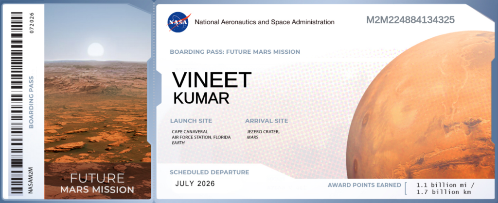 Ticket to NASA