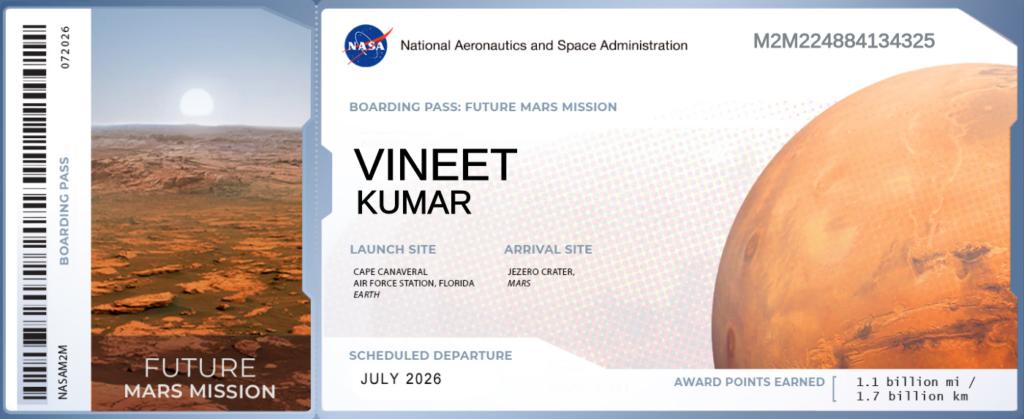 Ticket to NASA